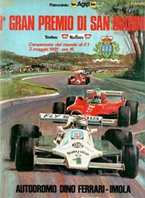 Locandina del 1° Gran Premio di San Marino di F1 del 1981